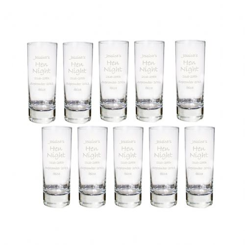 Pack of 10 Engraved Shot Glass